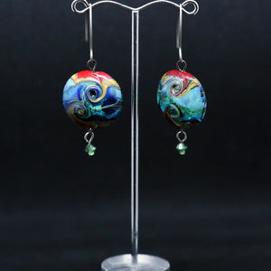 Exquisite Earrings with Striking Handmade Beads by Liz DeLuca