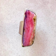 Load image into Gallery viewer, Stunning Pink Rhodochrosite Ring by Eilish Bouchier