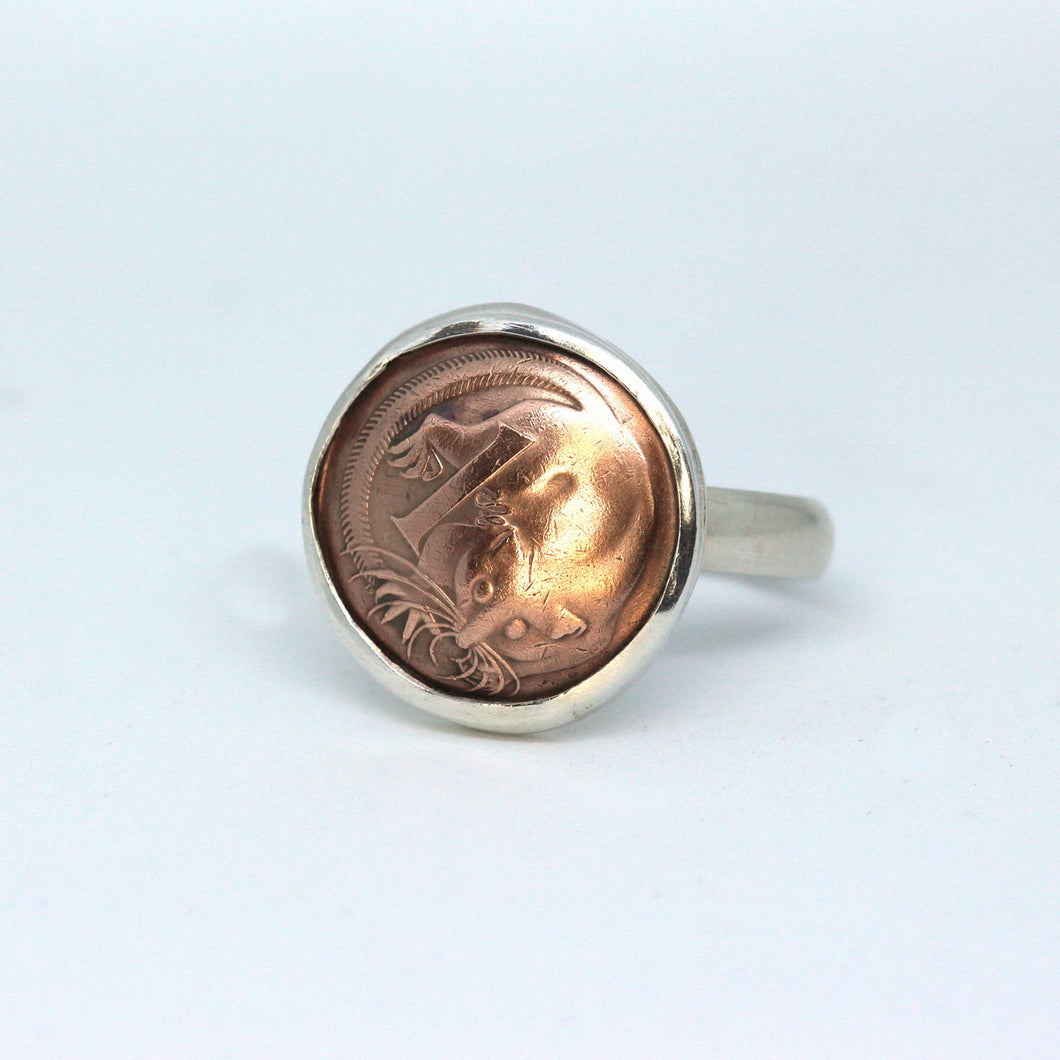 Australian One Cent Coin Ring