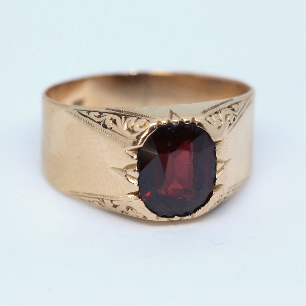 Rose Gold & Garnet Vintage Ring