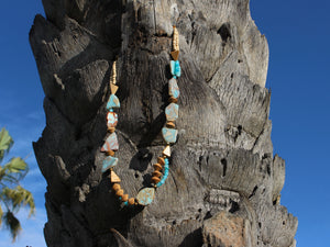 Peruvian Opal & Jasper Gemstone Necklace