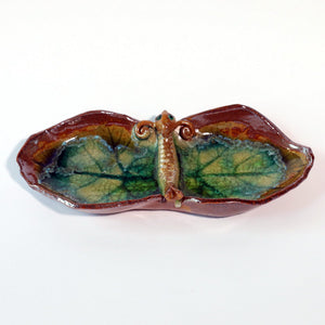 Vintage Ceramic & Glass Dragonfly