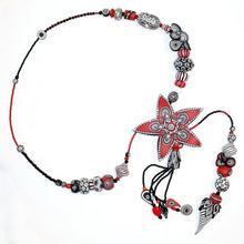 Load image into Gallery viewer, Polymer Clay 'Starburst' Necklace by Australian Artist Wendy Moore