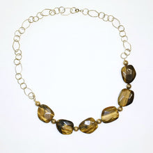 Load image into Gallery viewer, Tigers Eye Chain Necklace