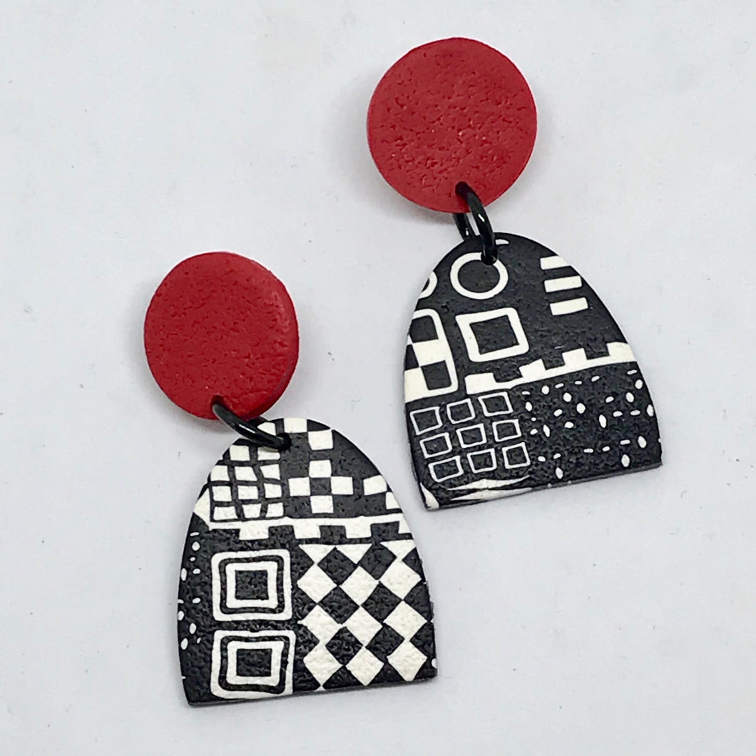 Red Paradise Earrings by Wendy Moore