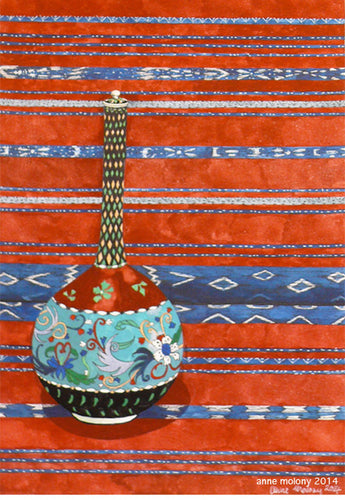 Vase with Sumba Blanket by Anne Molony