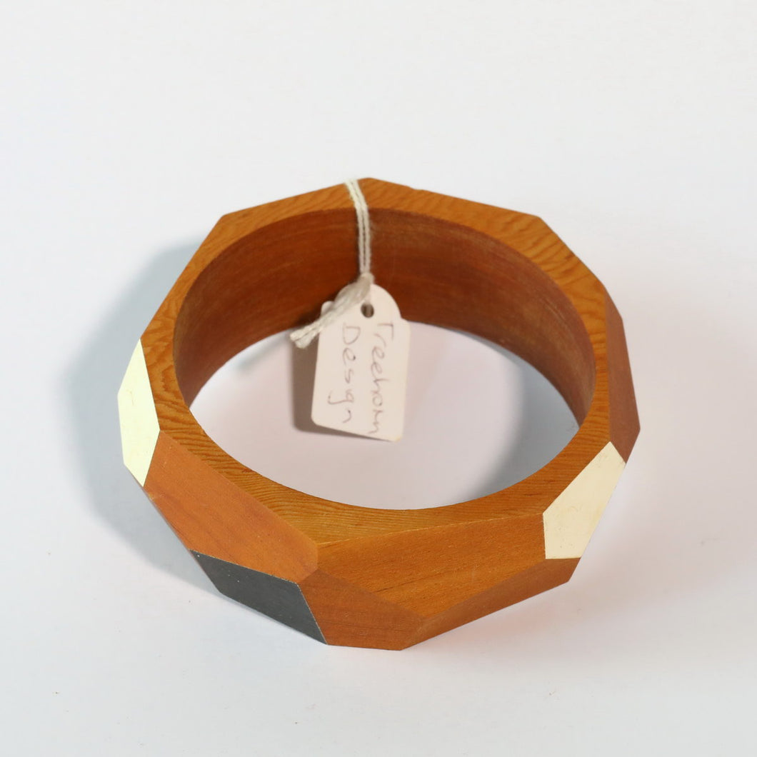Large Wooden Carved Bangle