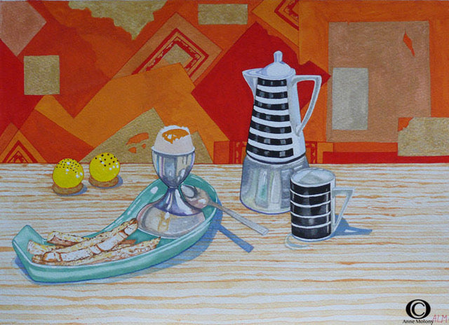 'Breakfast with Collage' by Anne Molony