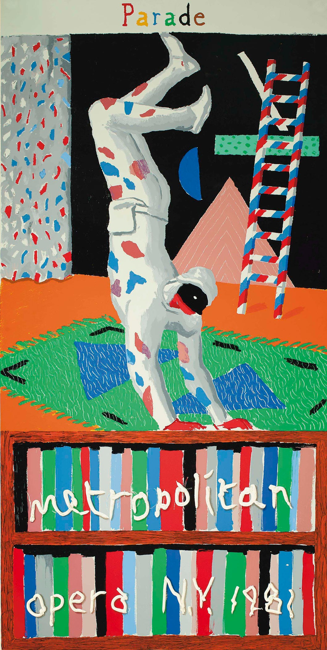 'Parade'- Met Opera poster by David Hockney (1981)