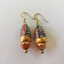 Load image into Gallery viewer, Exquisite Earrings with Hand-Painted Porcelain Beads by Melissa Gabelle