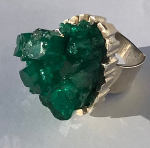 Sensational Emerald and Stirling Silver Ring