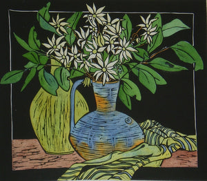 'Flannel Flowers' - Traditional Artist's Hand Pulled Print by Mellissa Read-Devine. SOLD OUT