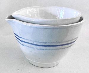 The Thin 'Blue Line' Set of 2 Bowls by Susan Hulland