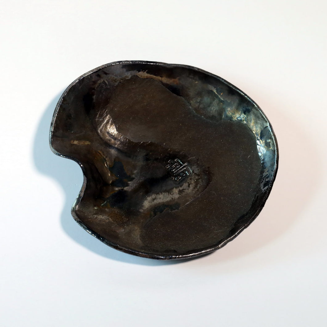 Black Curved Bowl