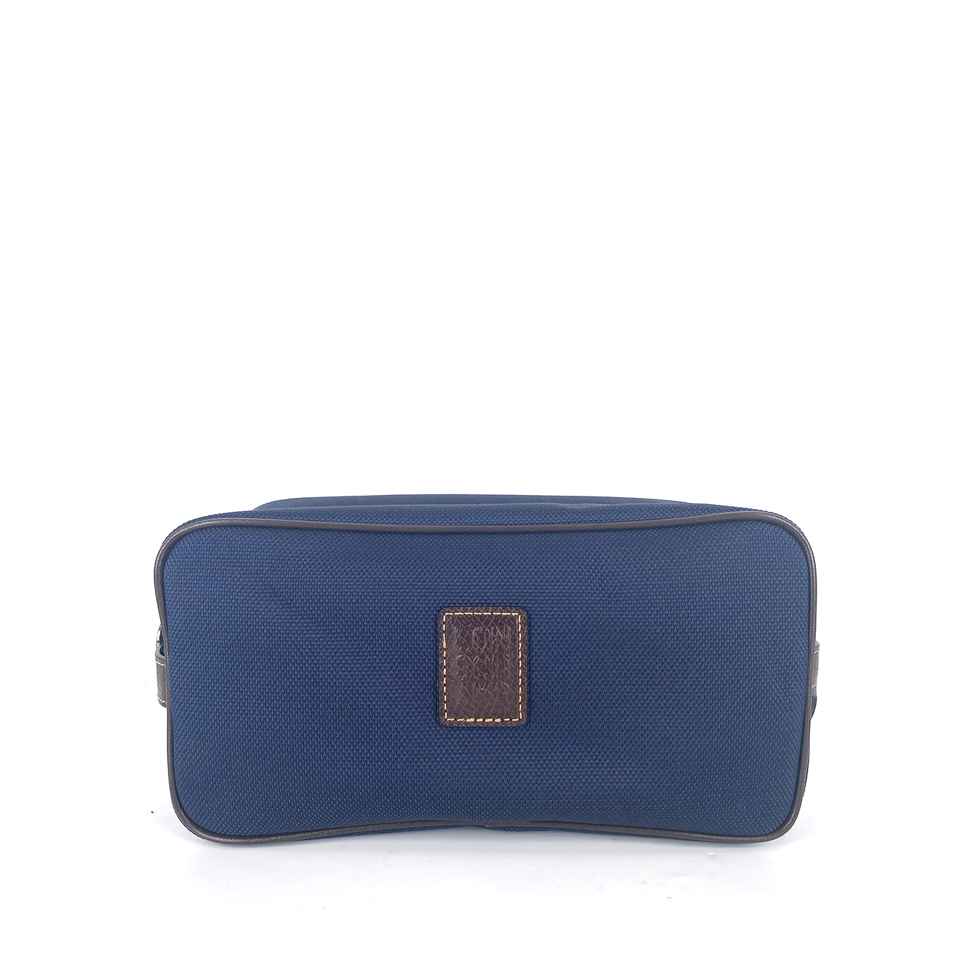 Longchamp Pouch Cosmetic Canvas Medium  in Dark Blue
