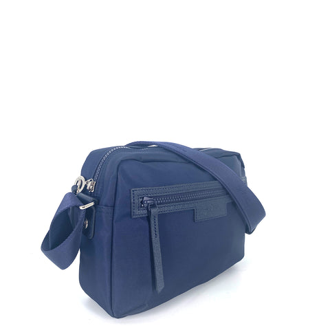 Longchamp Le Pliage Neo Camera Crossbody Bag In Navy Blue