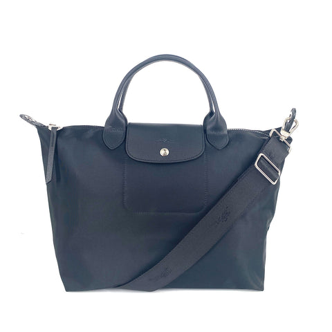 Longchamp Le Pliage Neo Medium Top Handle SH Black