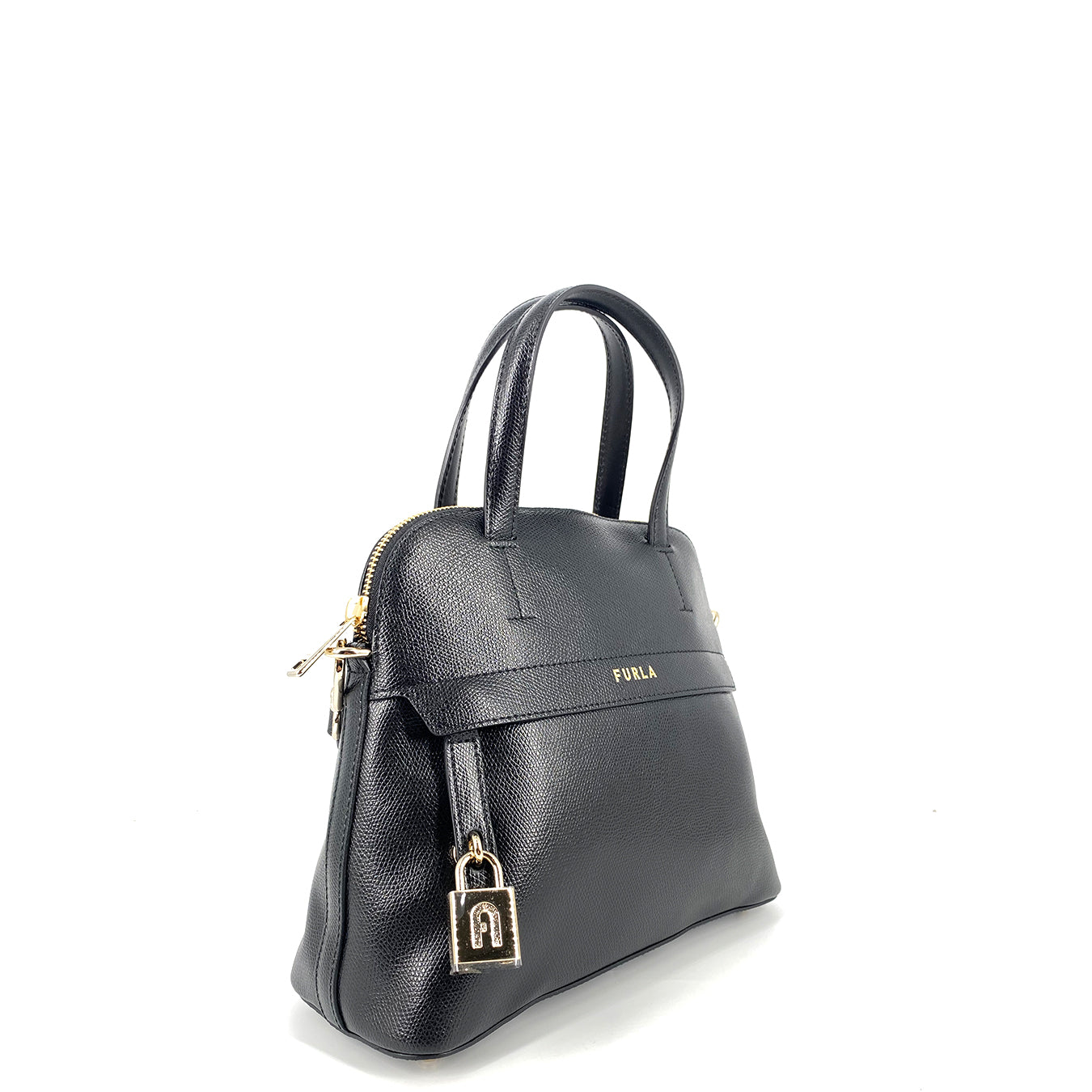 Furla Piper Dome Small Top Handle Satchel Nero