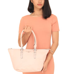 Nannini B10191-1 Institutional Leather Tote Rosa