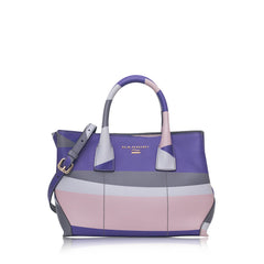 B10146-1 Medium Dual Satchel Wave Klein