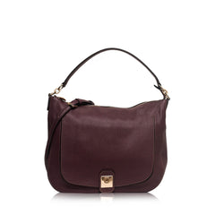 Furla Jo Maroon Leather Large Hobo Bag