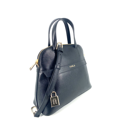Furla Piper Dome Medium Top Handle Satchel Nero