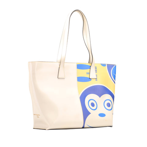 Nannini B10079-7 Tote Monkey Sole Yellow