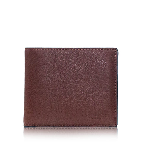 Compact ID Wallet Sport Calf Dark Saddle