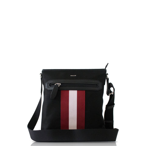 Bally Currios Men'S Nylon Crossbody Bag In Black