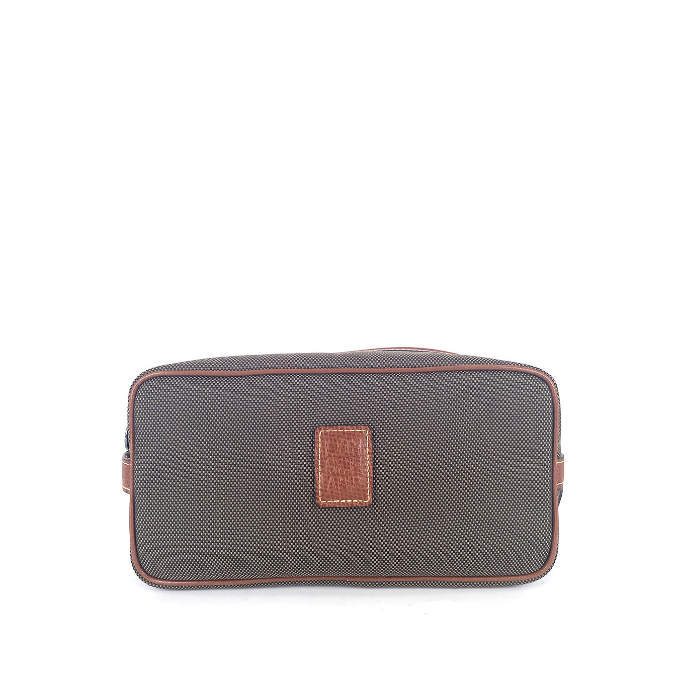Longchamp Pouch Cosmetic Canvas Medium in Brown