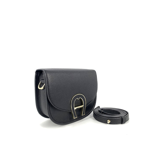 Aigner Etienne Pina Crossbody Bag in Black