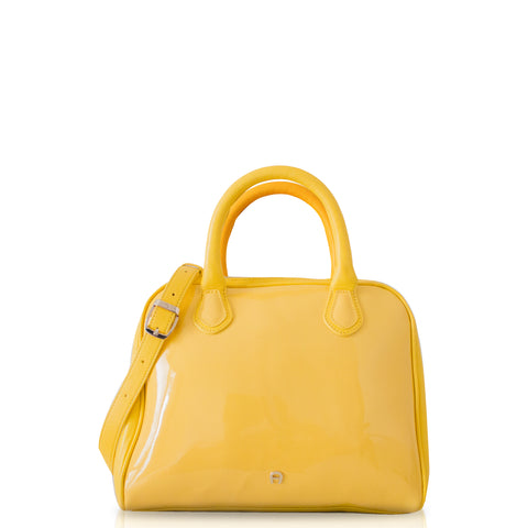 Aigner Candy Medium Satchel Bag in Yellow
