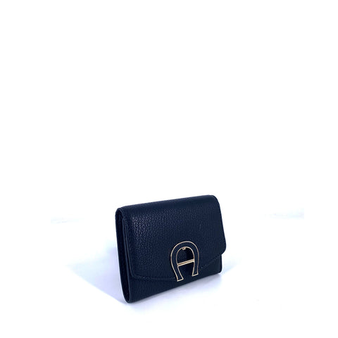 Aigner Pina Black Short Wallet