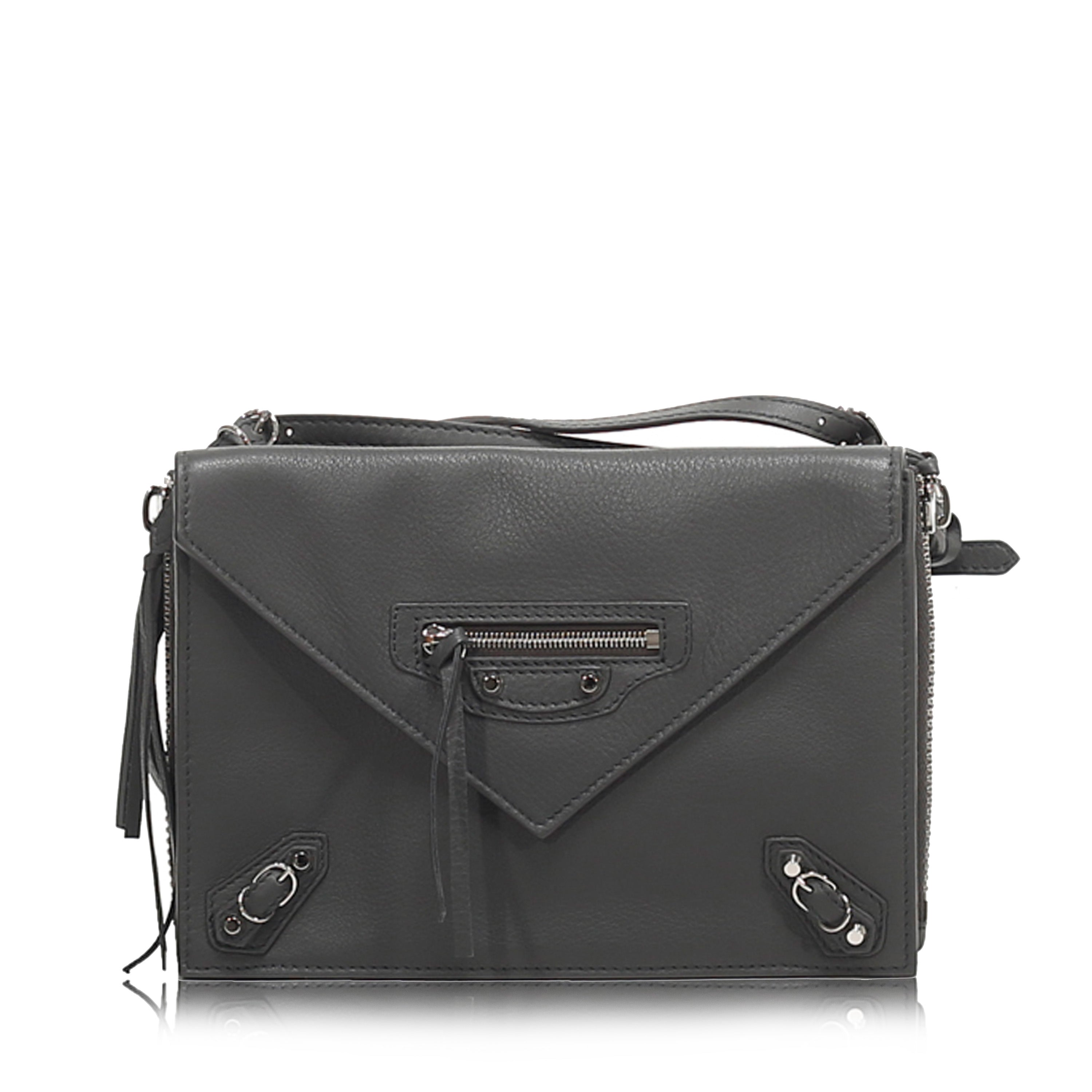 Balenciaga Papier Triple Zip Around Crossbody Grigio