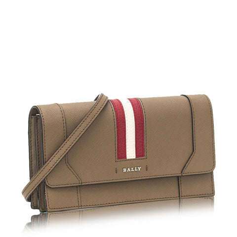 Stafford Grained Split Bovine Leather Wallet Khaki