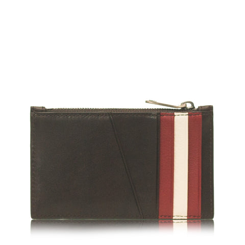 Tenley Men's Calf Plain Card Holder in Chocolate