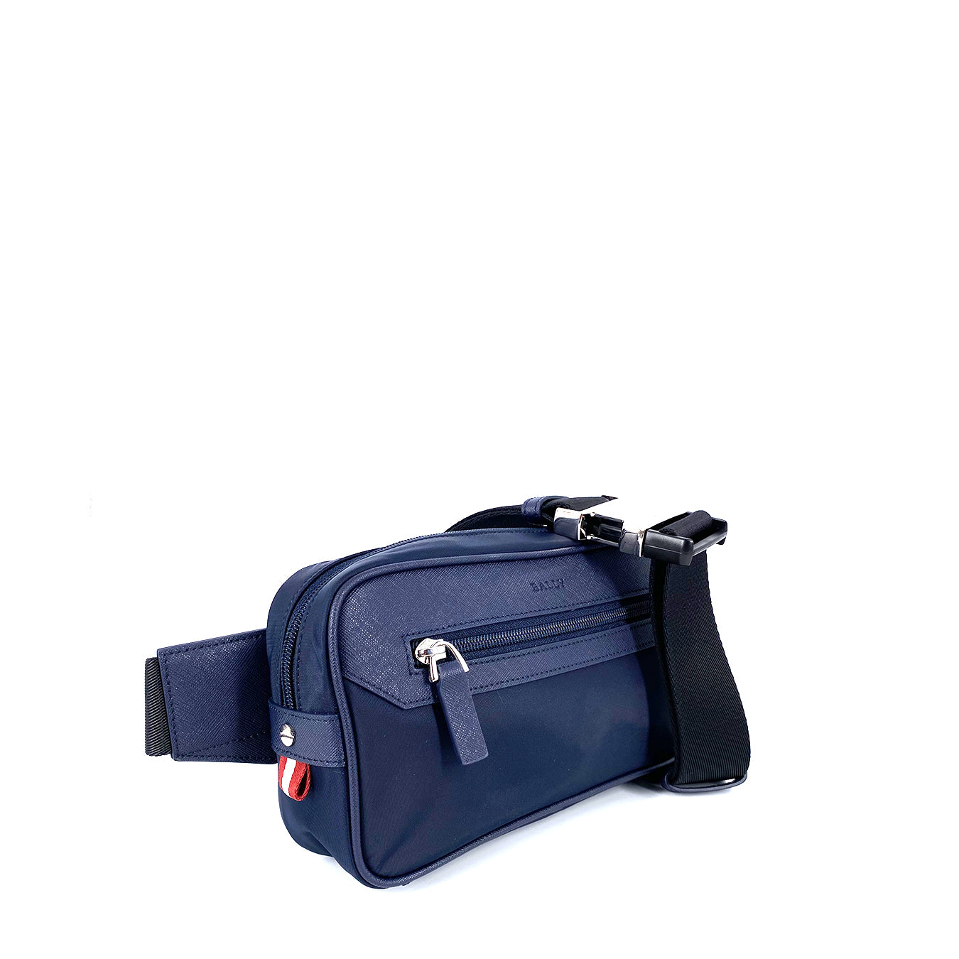 Bally Twister Belt Bag Canvas Navy