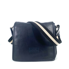 Bally Terlago Men ́s Leather Messenger Bag in Navy
