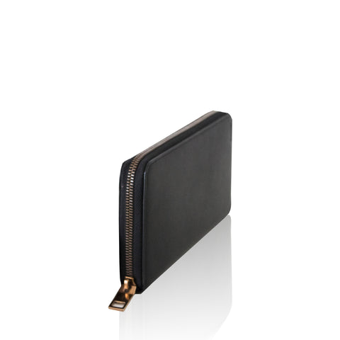 Black Tavion Calf Plain Wallet