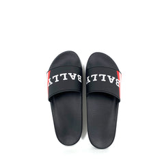 Bally Simon Rubber Slide Sandal Black/Red Size 41