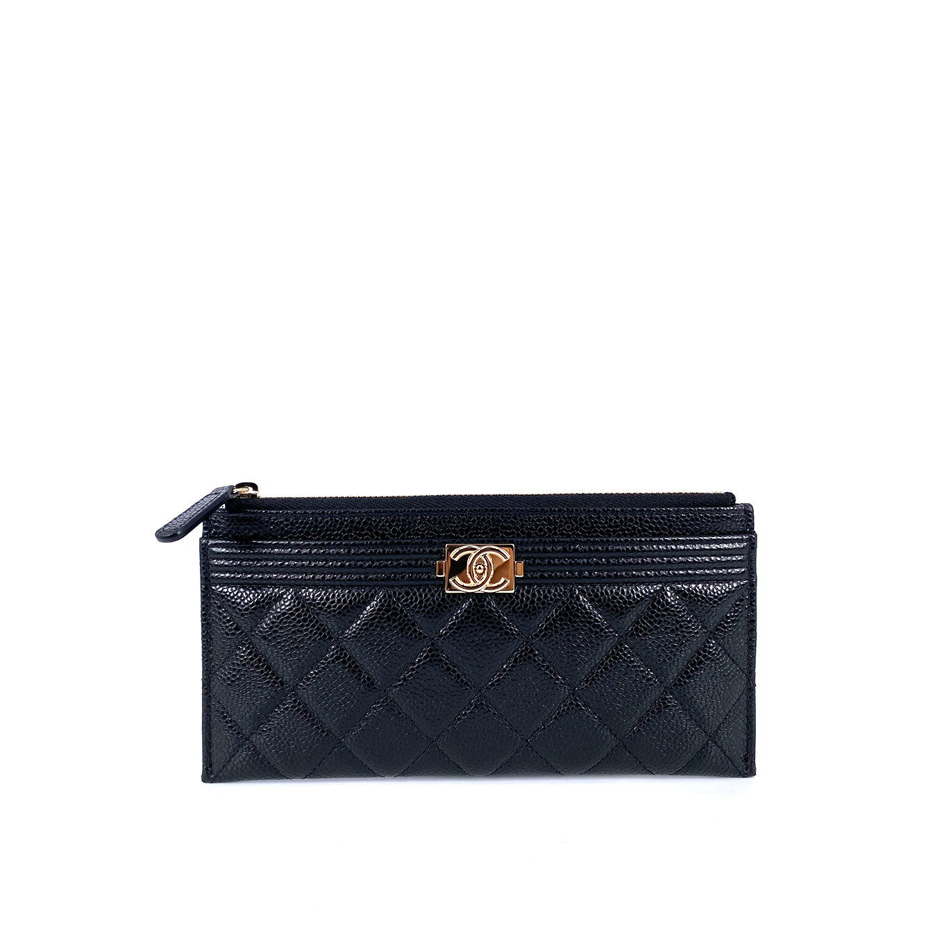 Chanel Long Zippy Wallet & HP Case in Black