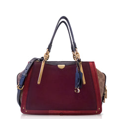 Coach 79441 Dreamer Tan Deep Red With Signature Canvas Blocking