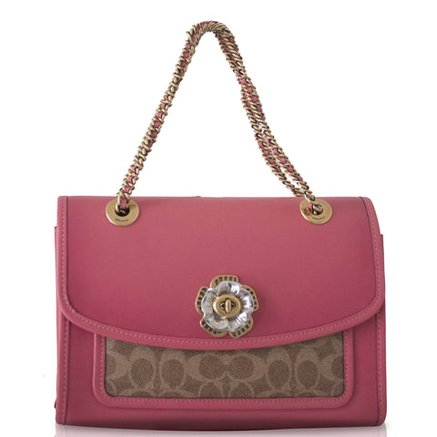 Coach 89112 Parker with Signature Canvas Tan Orchid