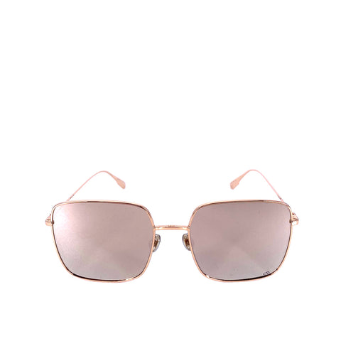 Dior Stellaire1 Rosegold Mirrored Square Sunglasses