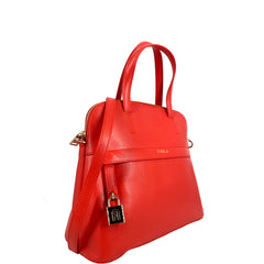Furla Piper Dome Medium Top Handle Satchel Fuoco