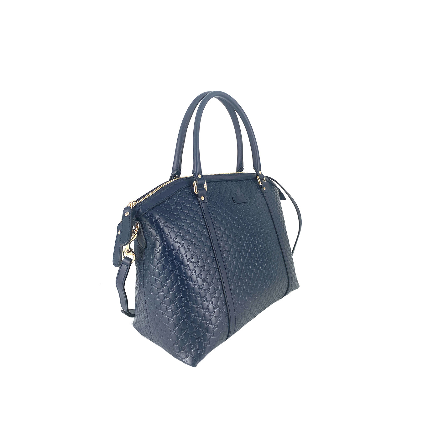 Gucci Microguccissima Alma Large Satchel in Navy