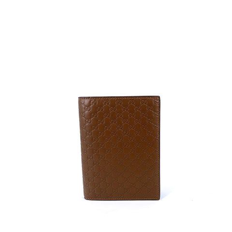 Men Micro Guccissima Bifold Wallet Brown 10 x 10.5 cm