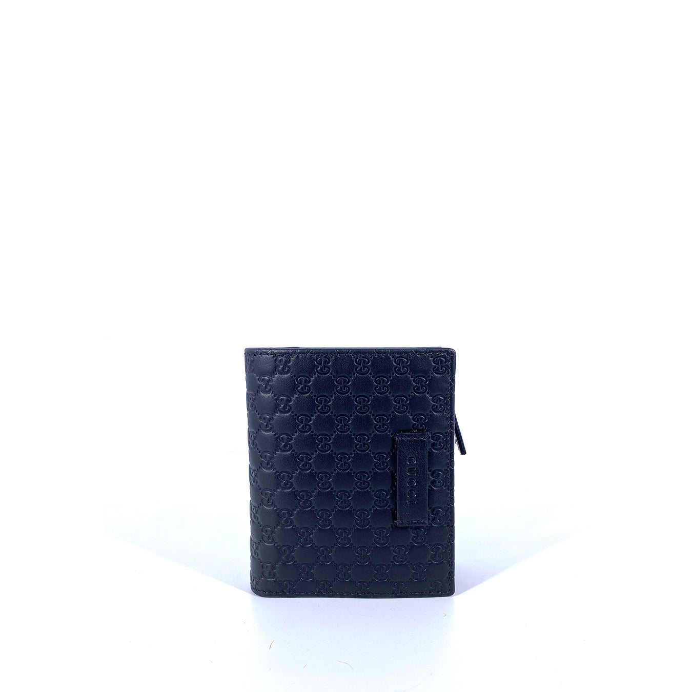 Gucci Micro GG Small Wallet with Zip Coin Purse Black