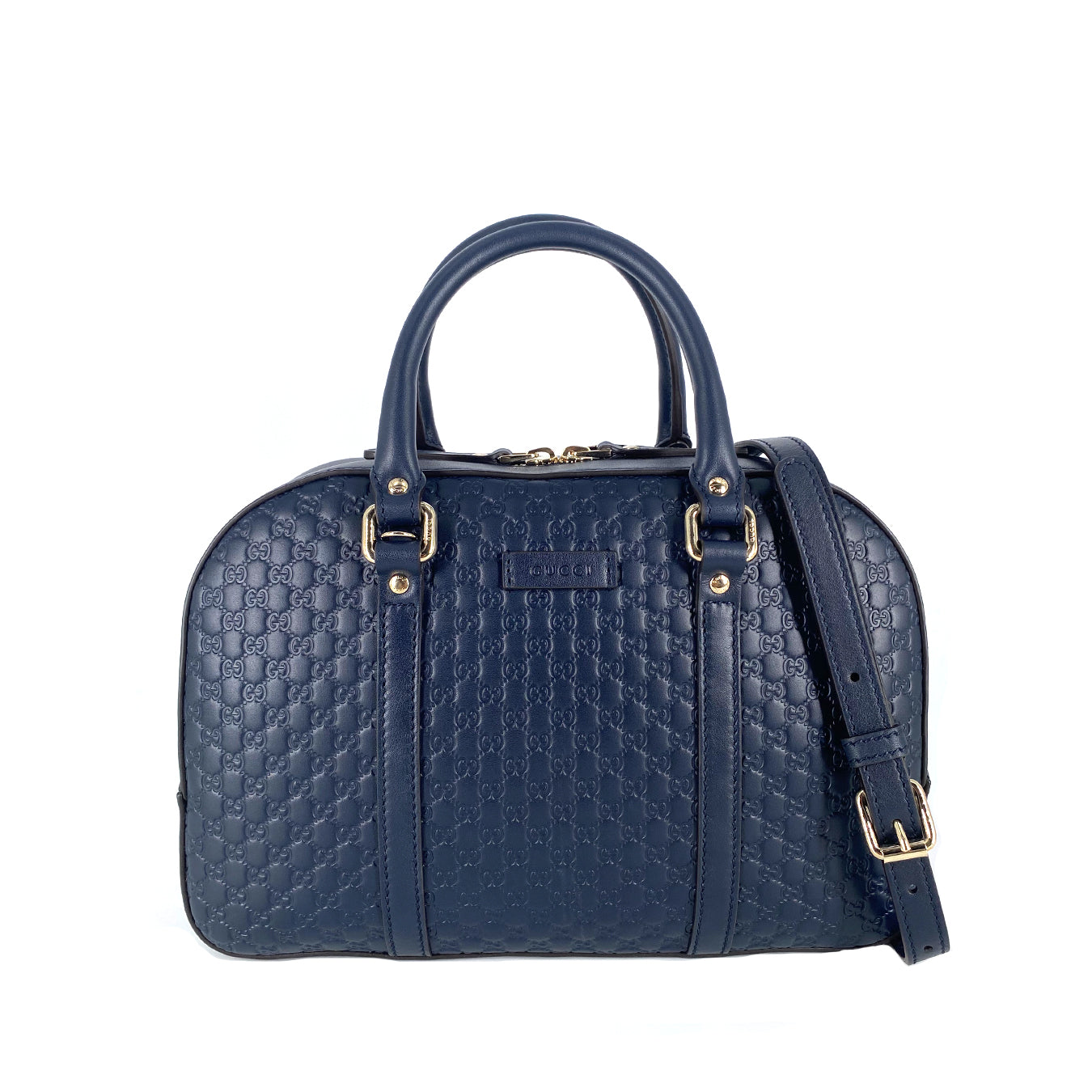Gucci Microguccissima Speedy Satchel  Bag Medium in Navy