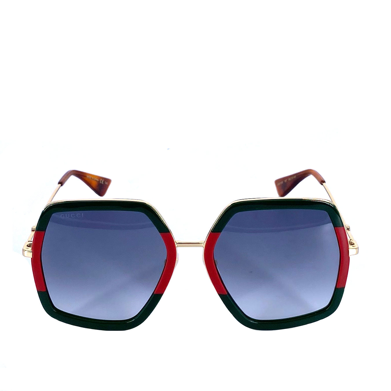 Gucci Square Sunglasses Red Green